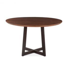 "Mozambique 48"" Round Dining Table Walnut"