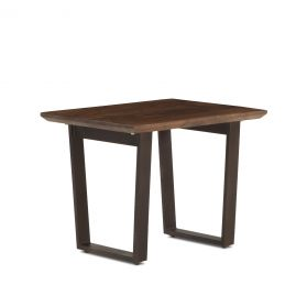 "Mozambique Side Table 28"" Walnut"