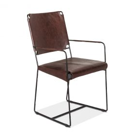 New York Arm Chair Chocolate Leather