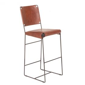 New York Bar Chair Tobacco Leather