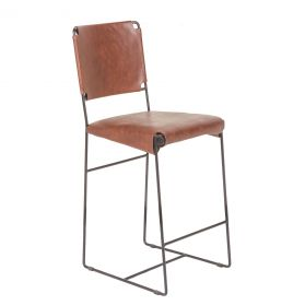 New York Counter Chair Tobacco Leather