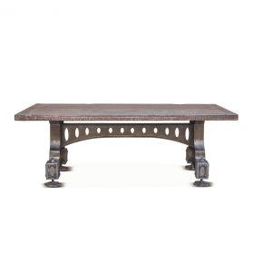 "Old Mill 53"" Reclaimed Wood Coffee Table"