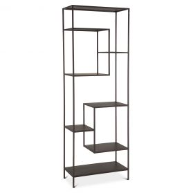 "Parson 30"" Wide Utilitarian Bookshelf Antique Zinc"