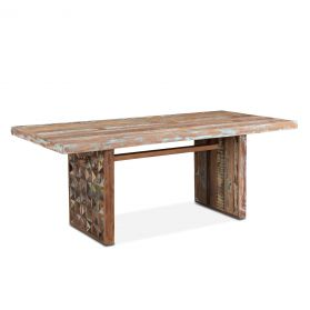 """Rio 78"""" Carved Teak Wood Dining Table"""
