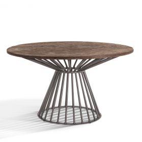 """Retro Round Dining Table 54"""" Dark Gray"""