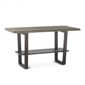 "Steamboat 66"" Gathering Table Weathered Gray"
