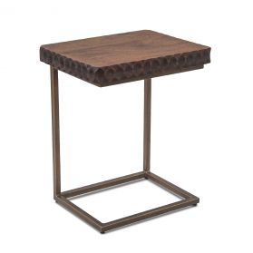 """Santa Cruz Accent Side Table 18"""" Two-Toned"""