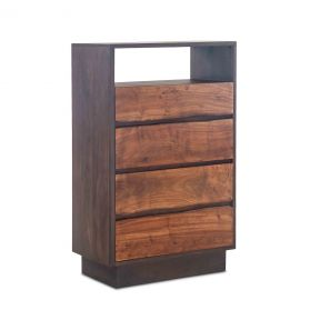 "San Marino 34"" Wide Tall Chest Raw Walnut"