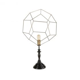 Tesla Geometric Pentagon Open Cage Table Lamp