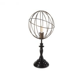 Tesla Vintage Globe Open Cage Table Lamp