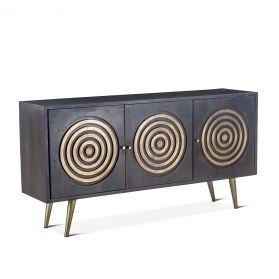 "Tunisia 72"" Sideboard Antique Ebony"