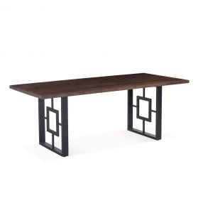 """Valencia 78"""" Dining Table Tawny Brown"""