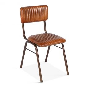 Bob Iron Chair with Leather Seat