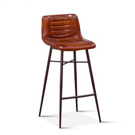 Wellington Low Back Leather Bar Chair