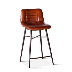 Wellington Low Back Leather Counter Chair
