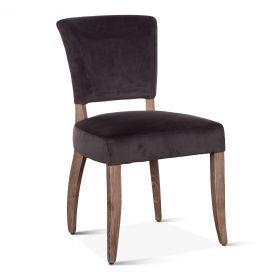 Mindy Side Chair Asphalt Velvet