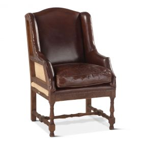 Sicily Deconstructed Armchair with Cigar Leather