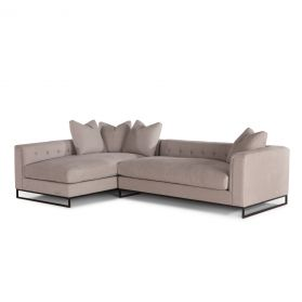 Davis Antique Taupe 2-Piece Sectional