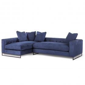Davis Rum Navy 2-Piece Sectional