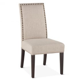 Jones Dining Chair Beige with Dark Legs
