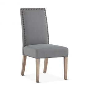 Jones Dining Chair Warm Gray with Napoleon Legs