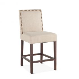 Jones Counter Chair Beige with Dark Legs