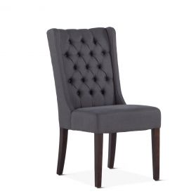 Lara Dining Chair Gray with Dark Legs