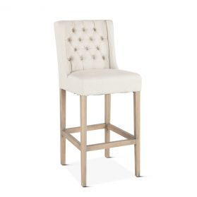 Lara Bar Chair Off-White with Napoleon Legs