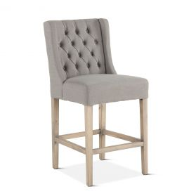 Lara Counter Chair Warm Gray with Napoleon Legs