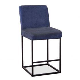 Renegade Rum Navy Linen and Iron Counter Chair