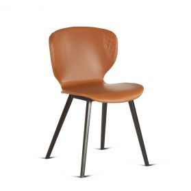 Harvey Tan Eco-Leather Dining Chair