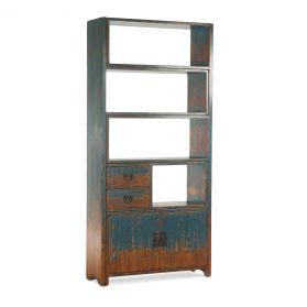 Library Adjustable Bookshelf Antique Blue