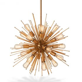 Luminaire Starburst Brass Chandelier