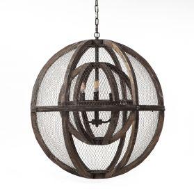 Luminaire Wire Mesh Globe Chandelier