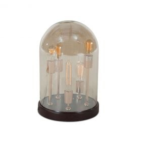 Luminaire Edison 5-Light Round Glass Dome Table Lamp