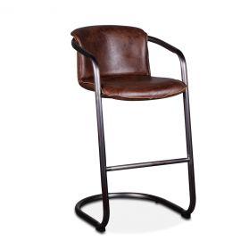 Portofino Leather Bar Chair Geisha Brown