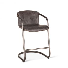 Portofino Leather Counter Chair Antique Ebony