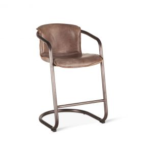 Portofino Leather Counter Chair Jet Brown