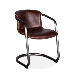 Portofino Leather Dining Chair Geisha Brown