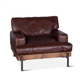 Portofino Leather Armchair Geisha Brown