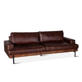 Portofino Leather Sofa Geisha Brown
