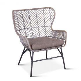 Kubu Accent Chair Gray Whitewash