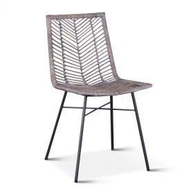 Kubu Dining Chair Gray Whitewash