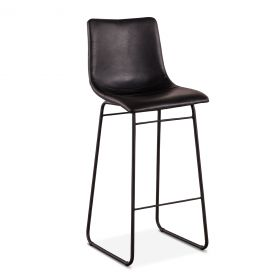 Ben Black Bar Chair