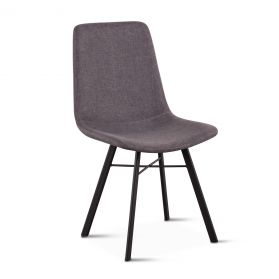 Sam Dark Gray Linen Dining Chair
