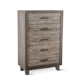 """Driftwood 36"""" Wide Tall Chest Weathered Graywash - Final Sale"""