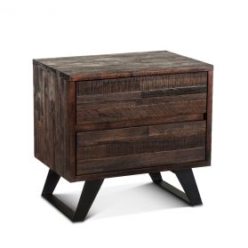 "Urban Loft 26"" Night Chest Dark Brown"
