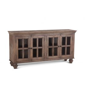 "Colonial Glass Cabinet 70"" Weathered Teak"