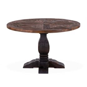 "Charleston 48"" Round Dining Table Old Barn"
