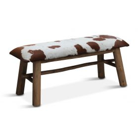 Dallas Stockyard Bench Cowhide